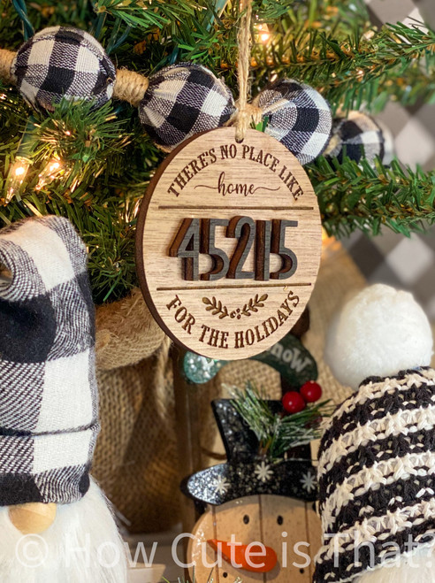 Zip code ornaments make a great hostess, christmas, housewarming, or wedding gift.