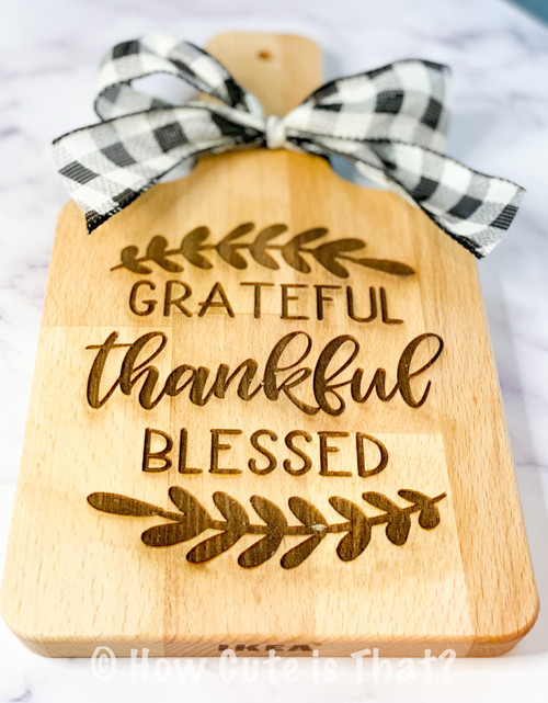 Personalized cutting boards make great closing gifts.