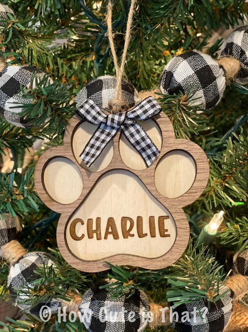 Personalized pet paw print ornament is a perfect addition to the family Christmas tree!