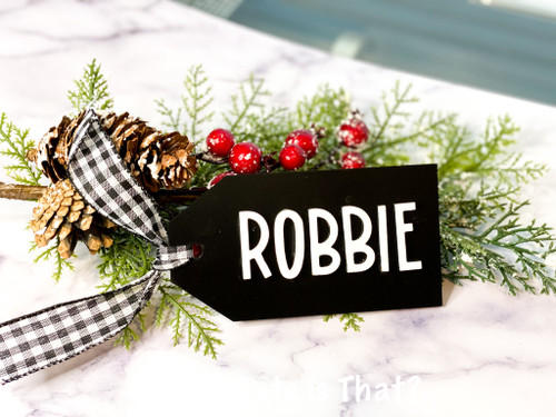 Our cute, personalized stocking tags can also be used as gift tags, place settings, or ornaments