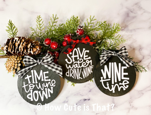 Wine ornament/wine gift tags