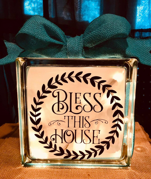 bless this house glass block