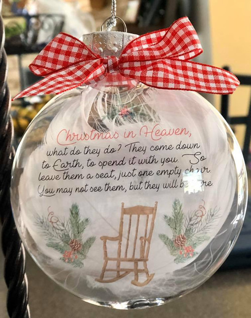 Christmas in heaven floating ornament