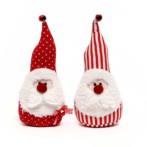 Small Red Santa Gnome with Red Nose and Red Bell