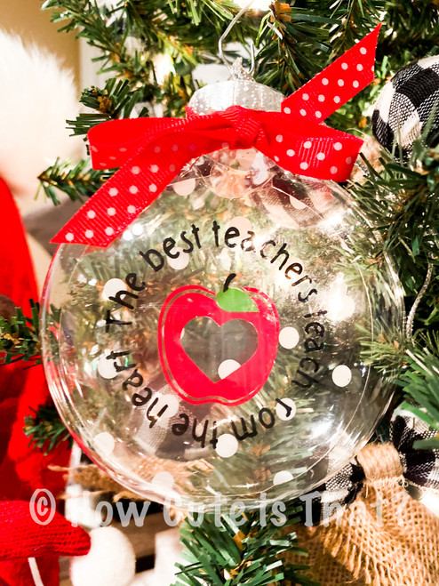 The Best Teachers Teach from the Heart Floating Ornament