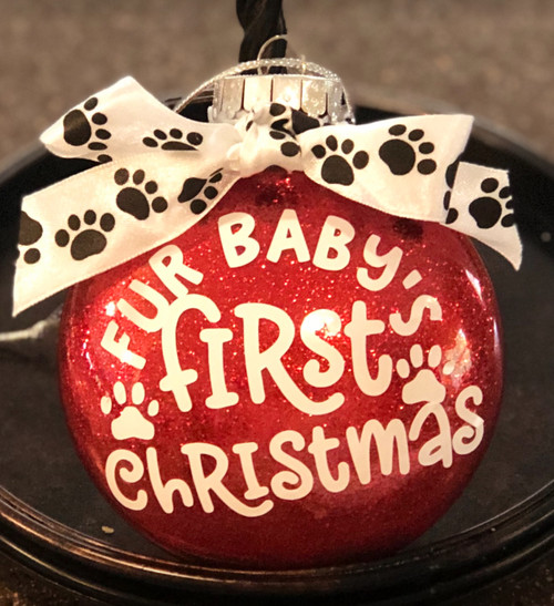 Fur Baby First Christmas Glitter ornament