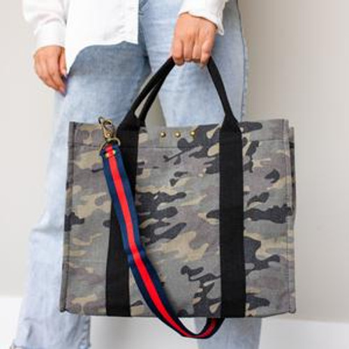 The XL version of our Canvas Crossbody Tote is here!
