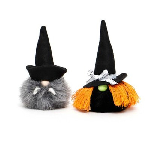 Creepy Critters Gnomes Pair Witch and Dracula Set