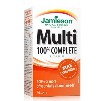 Jamieson Multi 100% Complete Vitamin Max Strength 90 capsules Canada