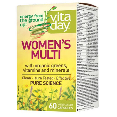 VitaDay Women's Multi with Organic Greens, Vitamins and Mineral 60 capsules