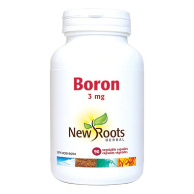 New Roots Boron 3 mg 90 vegetable capsules Canada