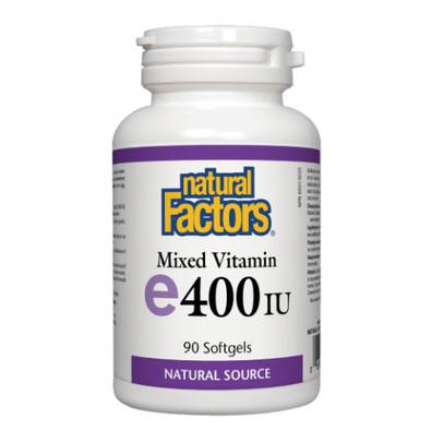 Natural Factors Mixed Vitamin E 400 IU 90 softgels Canada