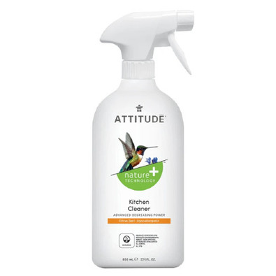 Attitude Citrus Zest Kitchen Cleaner 800ml Canada plant and mineral based ingredients