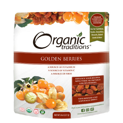 Organic Traditions Organic Golden Berries 227 grams Canada