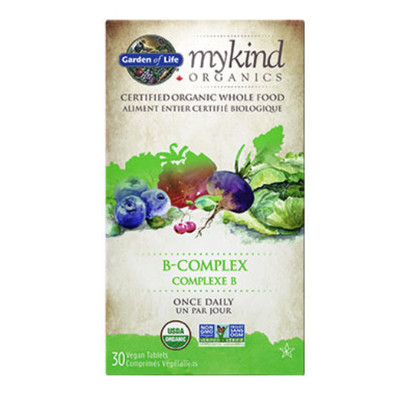 Garden of Life mykind Organics B-Complex Once Daily 30 vegan tablets