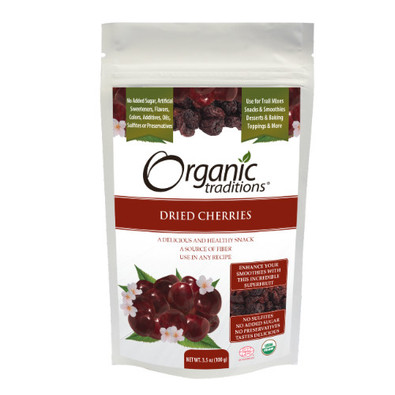 Organic Traditions Dried Cherries 100 grams Canada
