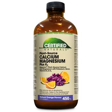 Certified Naturals Calcium Magnesium Plus K2 Orange 450 ml