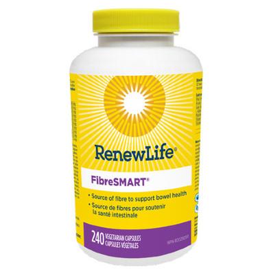 Renew Life FibreSMART 240 Vegetable Capsules. NEW LOOK