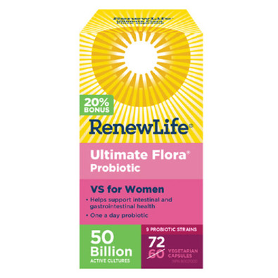 Renew Life Ultimate Flora Probiotic VS for Women 50 Billion 72 veg caps