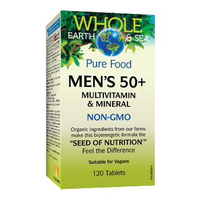 Natural Factors Whole Earth & Sea Men's 50+ multivitamin and mineral 120 tablets