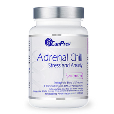 CanPrev Adrenal Chill Stress and Anxiety 90 Vegetable Capsules