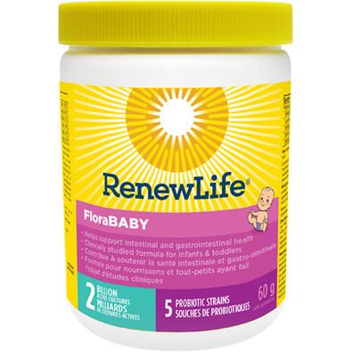 Renew Life FloraBABY 2 Billion 5  probiotic strain 60 grams
