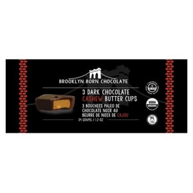 Brooklyn Born Chocolate 3 Dark Chocolate Cashew Butter Cups