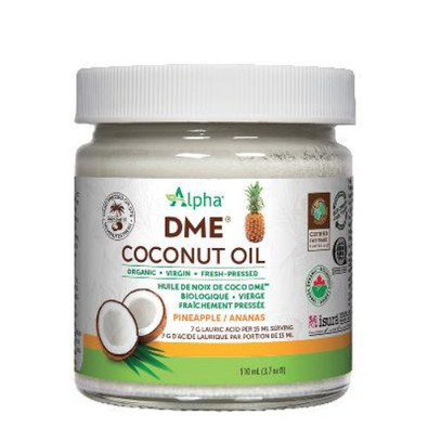 Alpha Organic DME Coconut Oil Pineapple Flavour 110 ml