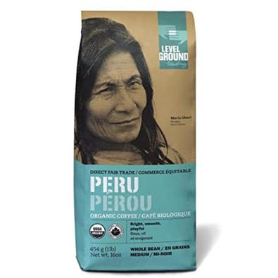 Level Ground Trading Peru Medium Roast Ground Coffee Beans