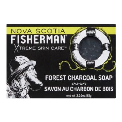 Nova Scotia Fisherman Forest Charcoal Soap Bar  95 grams.