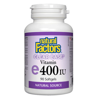 Natural Factors Vitamin E Clear Base 400 IU 90 softgels