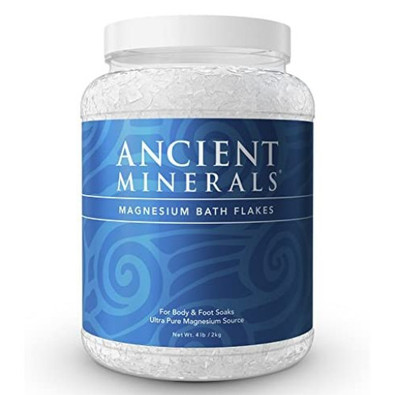 Ancient Minerals magnesium bath flakes.  For body and foot soaks.  2 kgs.