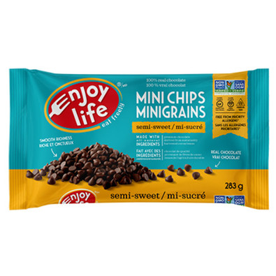 Enjoy Life Mini Chips Semi-Sweet are gluten free and dairy free.