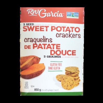 RW Garcia - 3 Seed Sweet Potato Crackers New Look