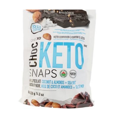 ChocXO Organic Keto Snaps Dark Chocolate Coconut Sea Salt & Almond 420 grams