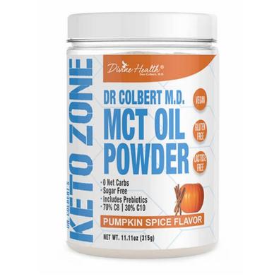 Divine Health Dr. Colbert M.D. MCT Oil Powder Pumpkin Spice  315 grams