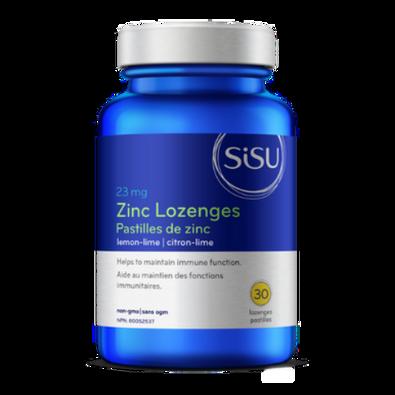 SISU - Lemon-Lime Flavoured 23 mg Zinc Lozenges