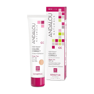 Andalou Naturals 1000 Roses Color+ Correct Sensitive Skin Sheet Tan Canada