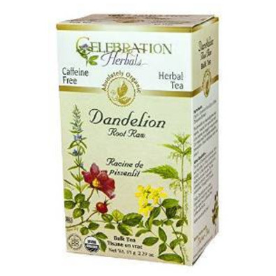 Celebration Herbals Dandelion Root Raw herbal tea.  24 tea bags.