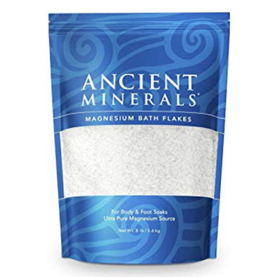 Ancient Minerals magnesium bath flakes.  For body and foot soaks.  750 grams.