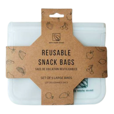 Zero Waste Mvmt - Large Reusable Snack Bags