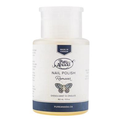 Pure Anada Nail Polish Remover, no acetone, non-toxic, scent free.  162 ml