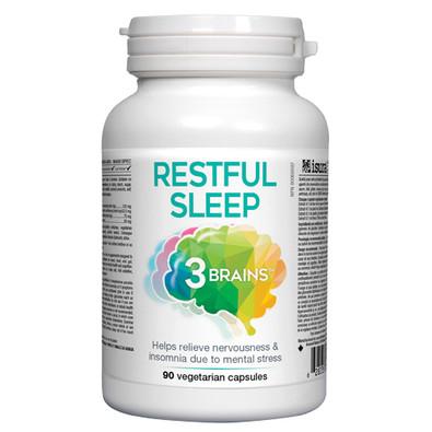 3 Brains Restful Sleep 90 veg caps Canada