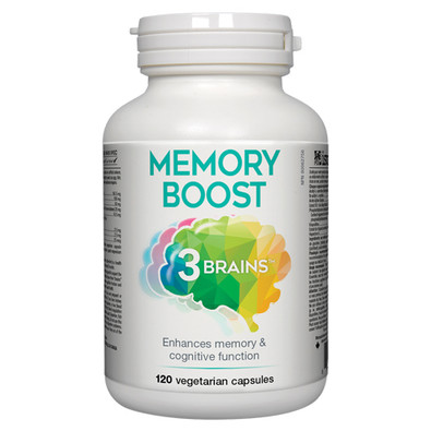 3 Brains Memory Boost, 120 veg caps mental and cognition support