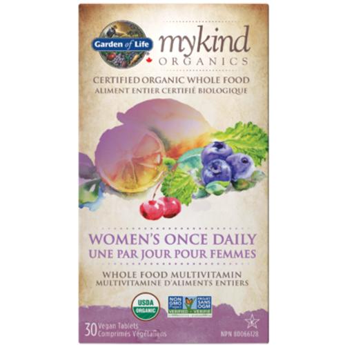 Garden of Life MyKind Organics Women's Once Daily Multivitamin 30 vegan tablets