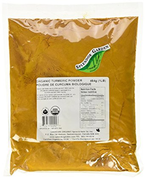 Splendor Garden Organic Turmeric Powder 454 grams