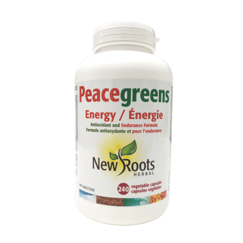 NEW Roots Peacegreens Energy 240 vegetable capsules