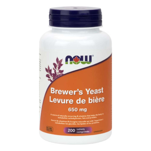 NOW Brewer's Yeast 650 mg 200 tablets Canada