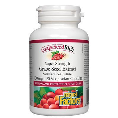 Natural Factors Super Strength Grape Seed Extract 100 mg Canada
