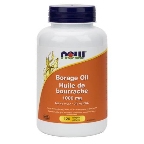 NOW Borage Oil 1000 mg GLA 120 softgels